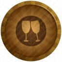 Colorful Wine Glass icon